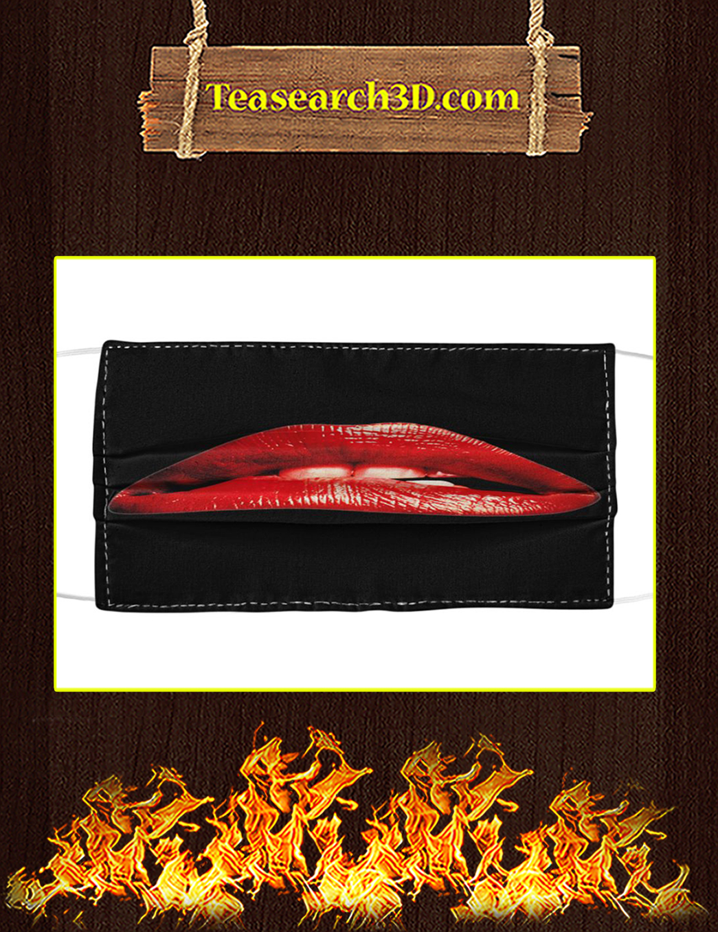 Rocky Horror Lips Cloth Face Mask pack 3