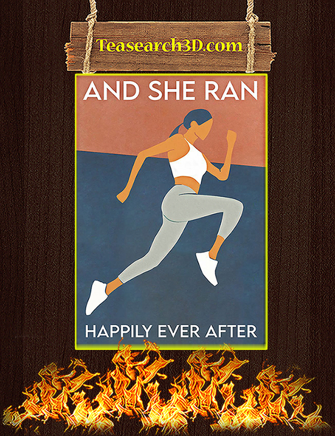 Running And She Ran Happily Ever After Poster A3