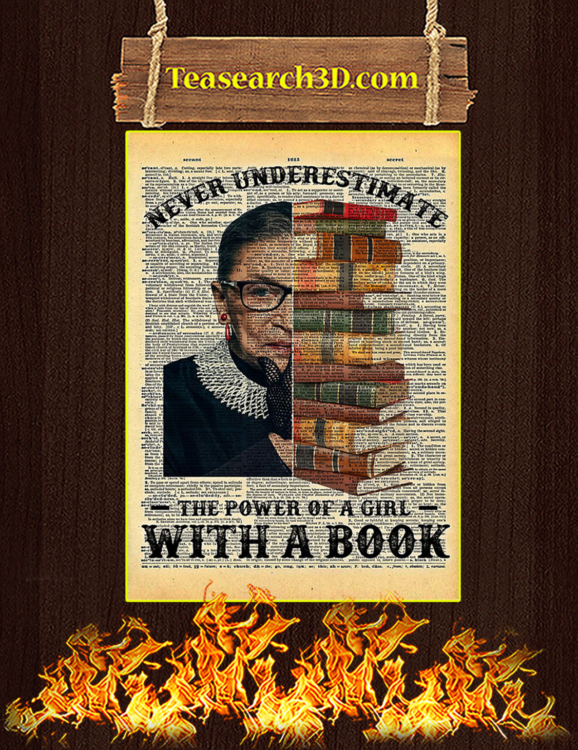 Ruth Bader Ginsburg Power Of A Girl With A Book Poster A3