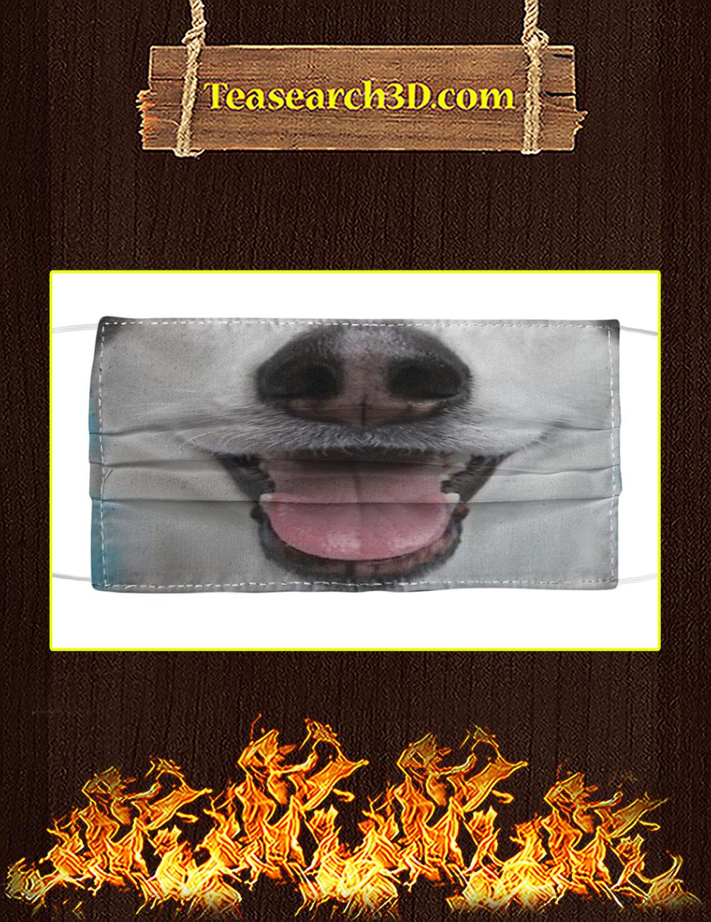 Siberian Husky smiling cloth face mask