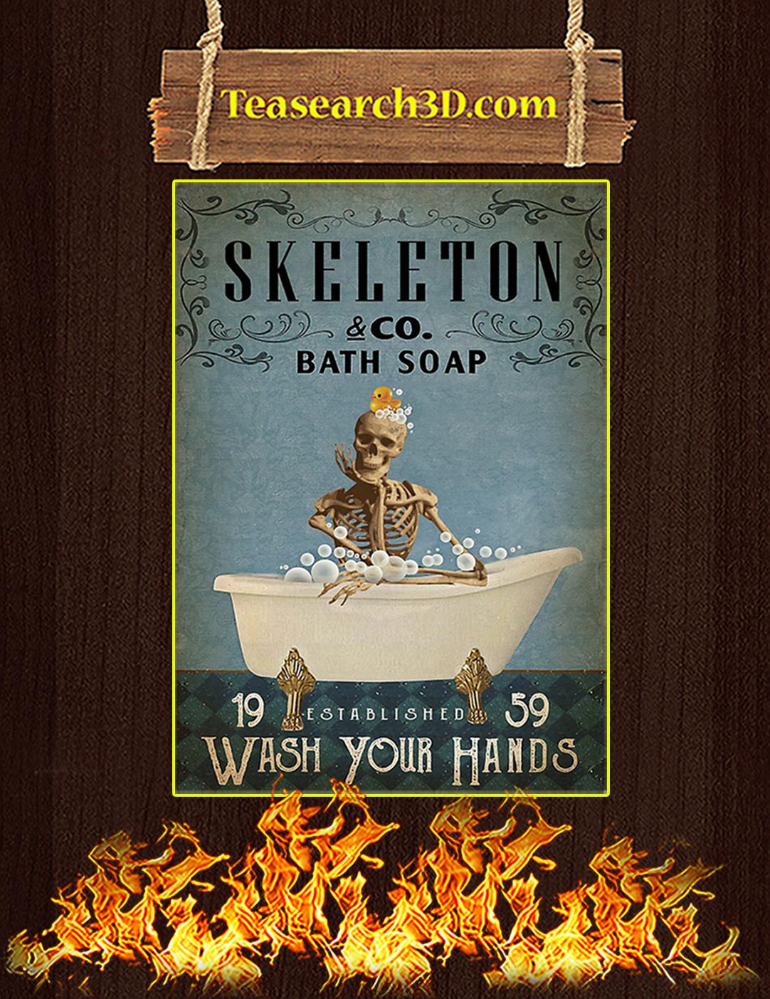 Skeleton Co Bath Soap Wash Your Hands Poster A2