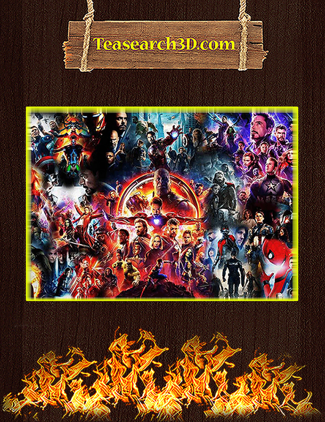 The Avenger End Game Poster A3