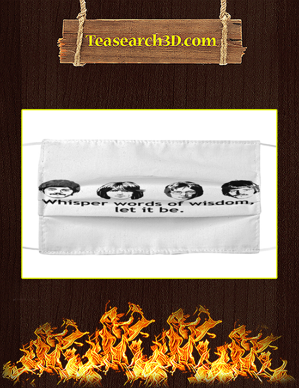 The Beatles Whisper words of widom Cloth Face Mask