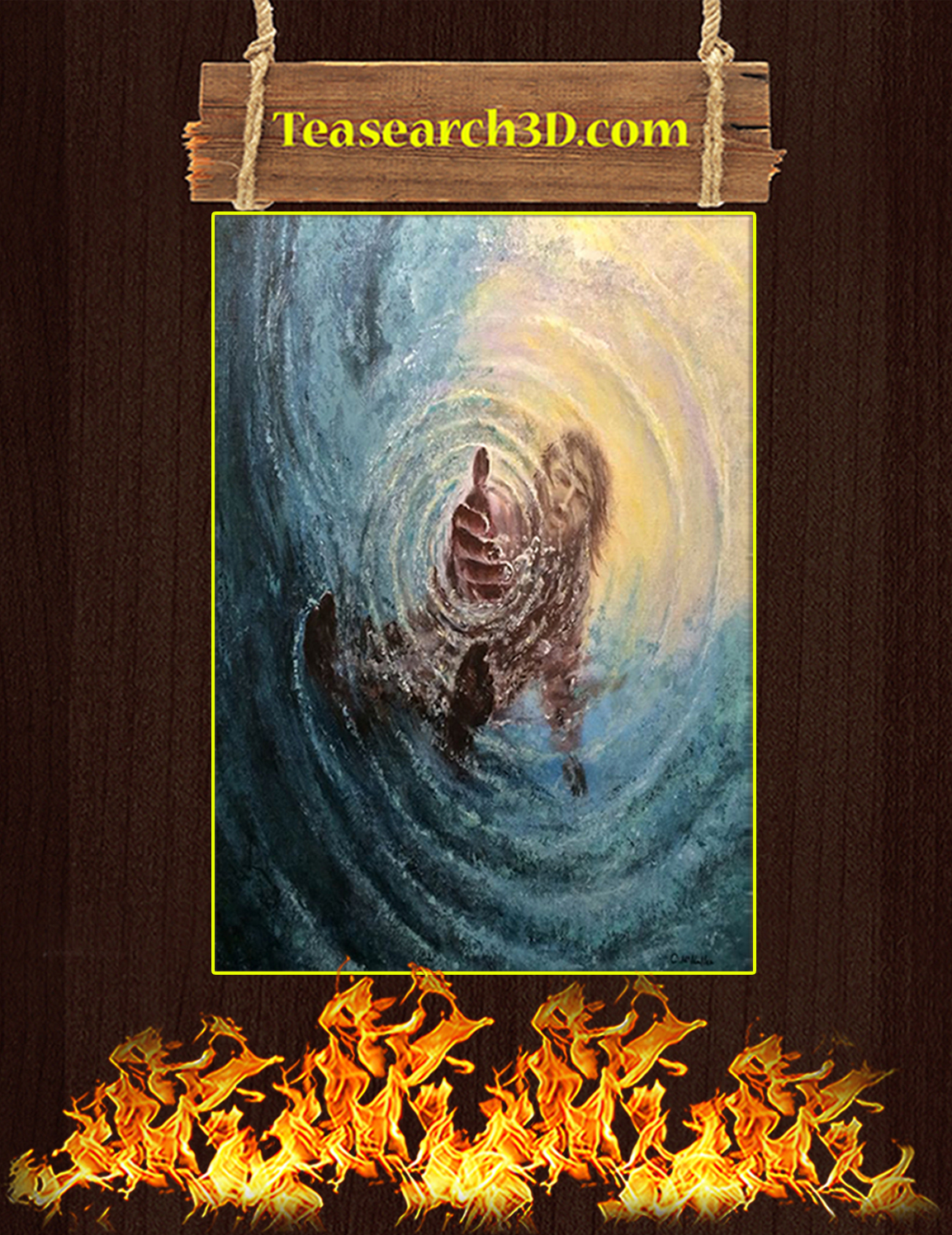 The Hand Of God Poster A3