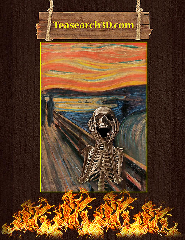The Scream Skeleton Poster A1