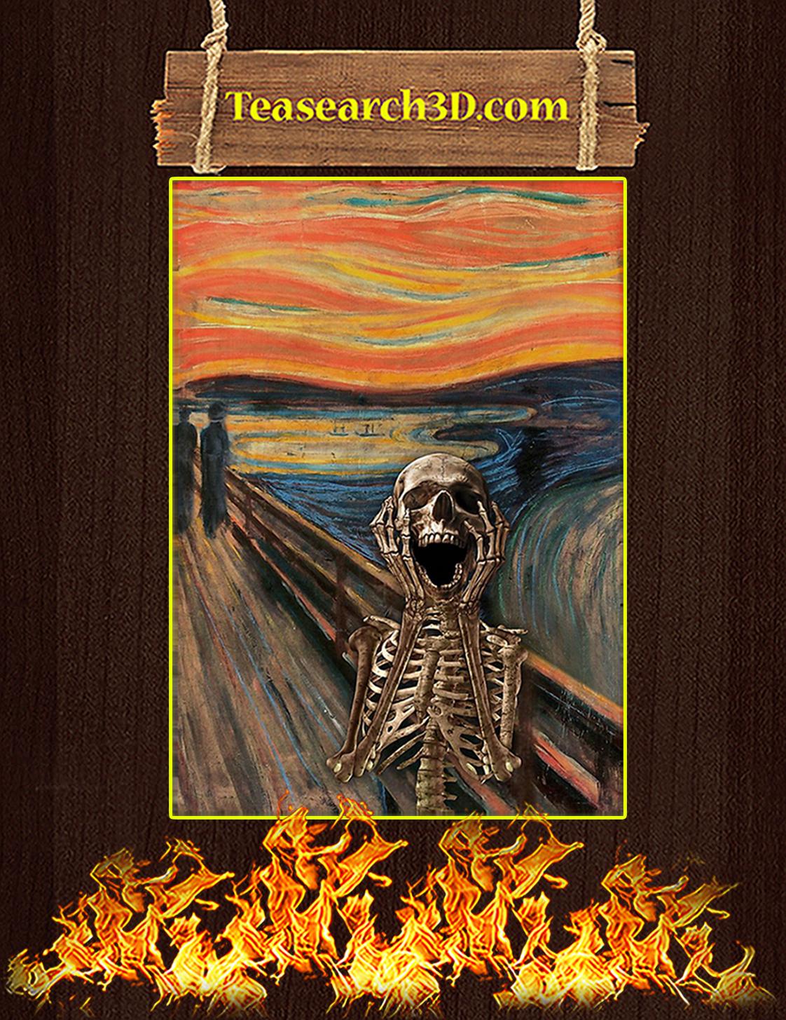 The Scream Skeleton Poster A3