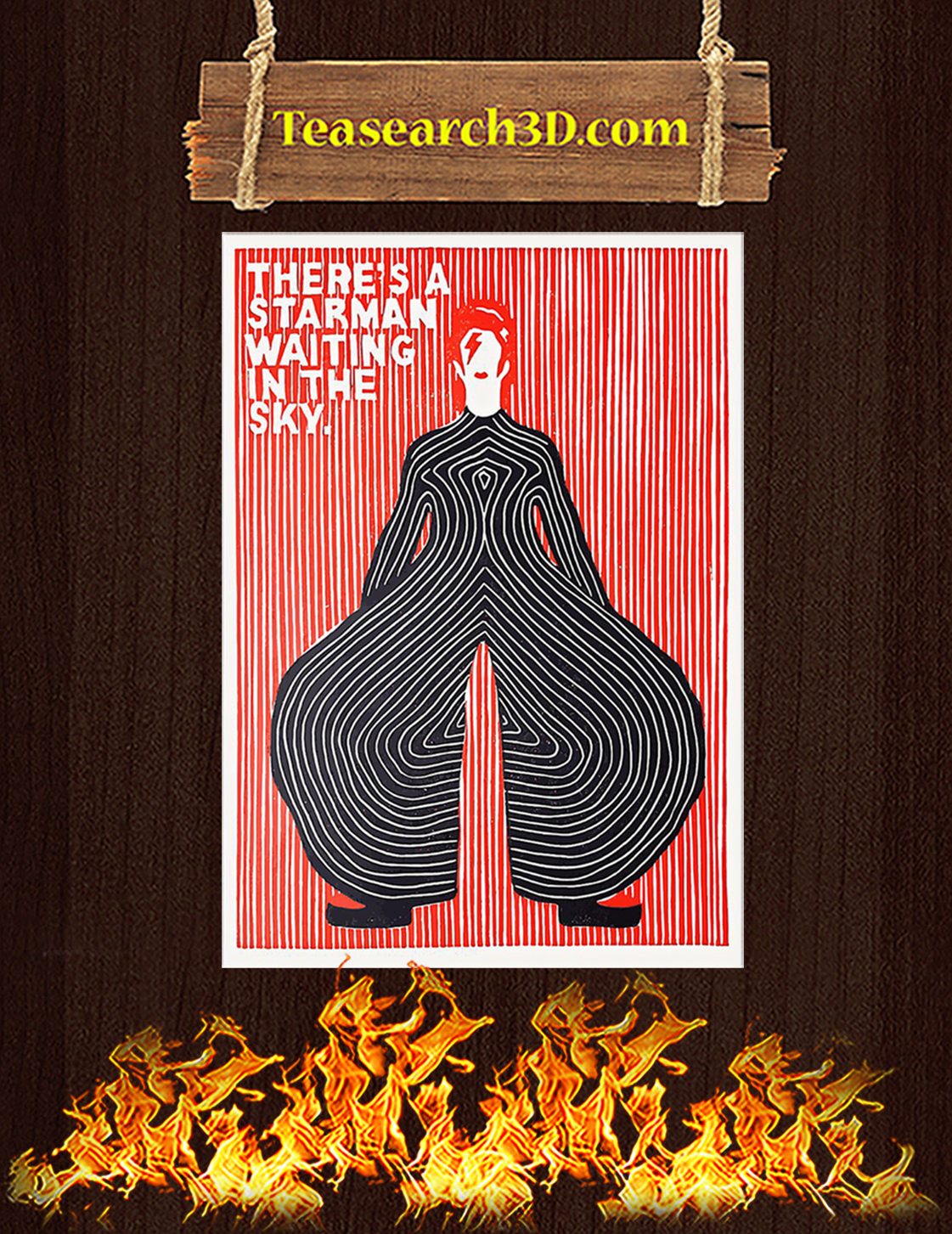There's a starman waiting in the sky poster A3