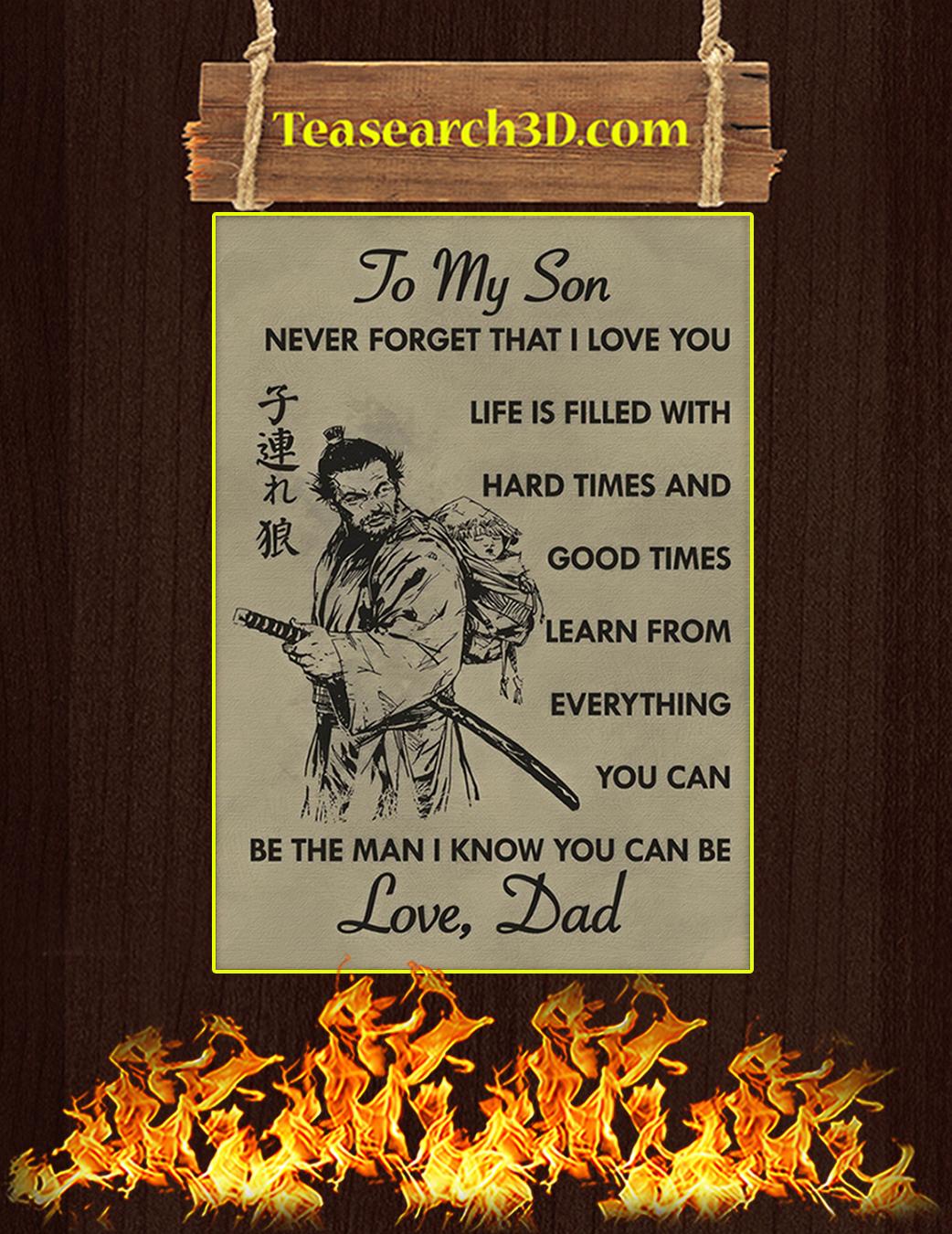 To my son samurai poster A1