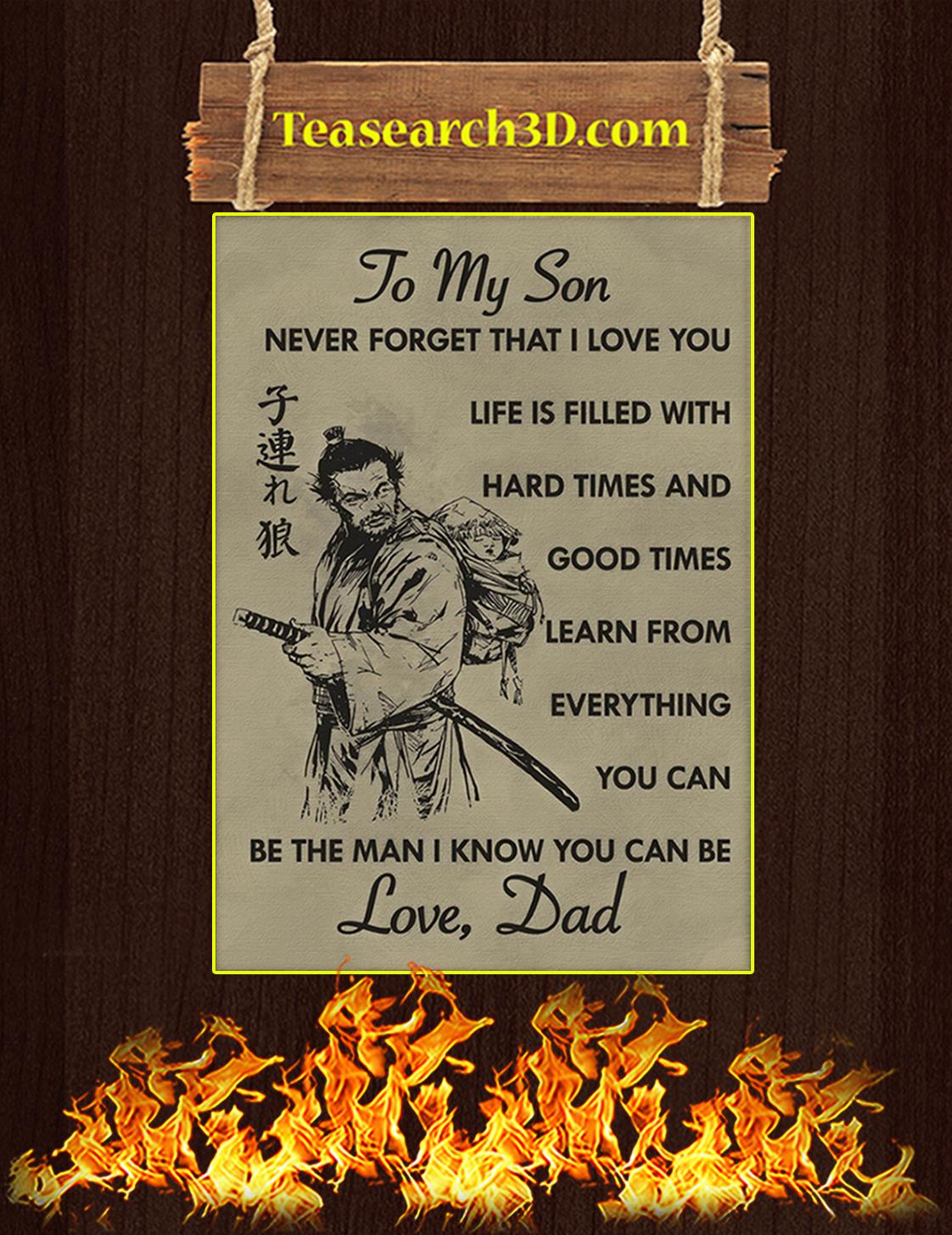To my son samurai poster A3