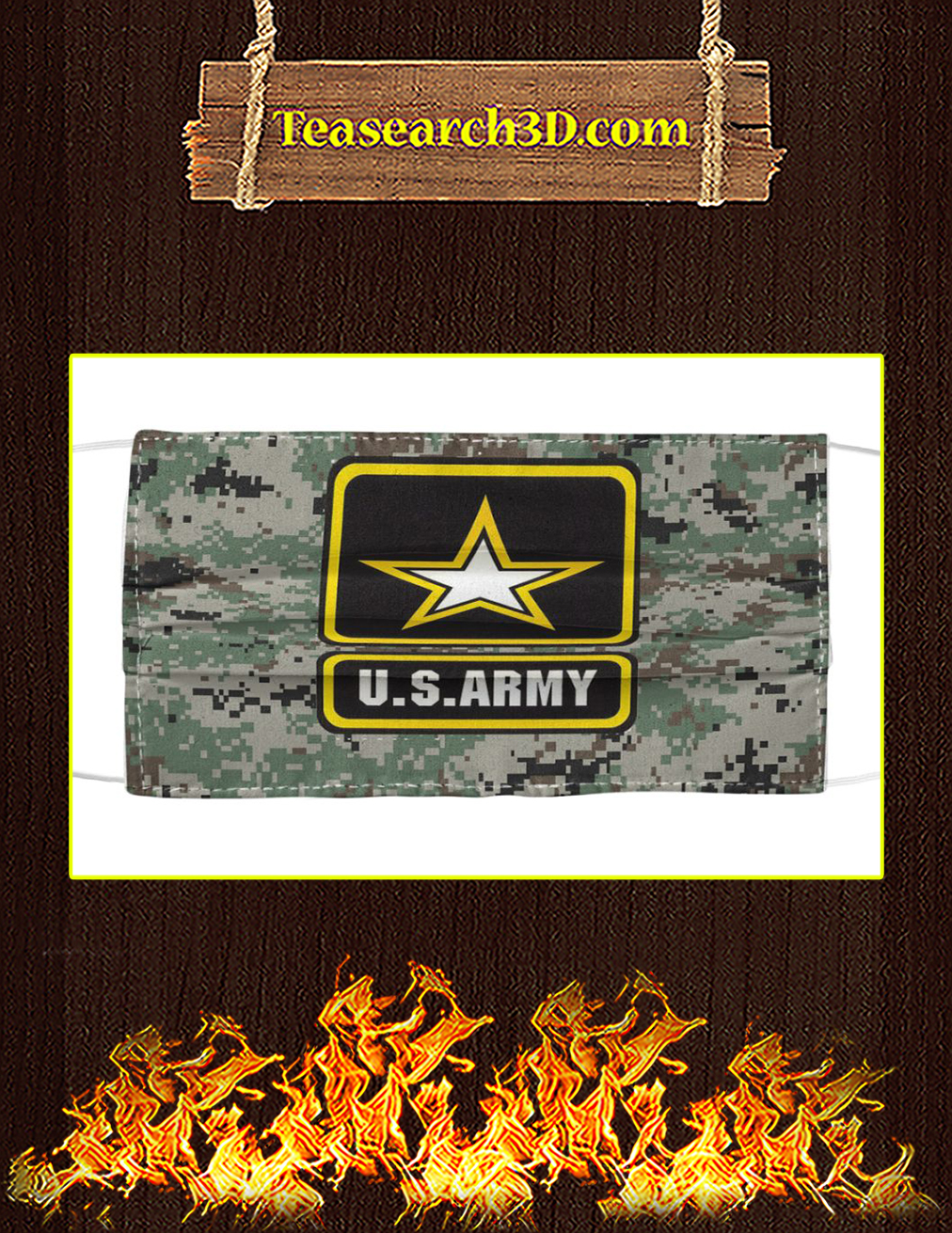 US Army Cloth Face Mask