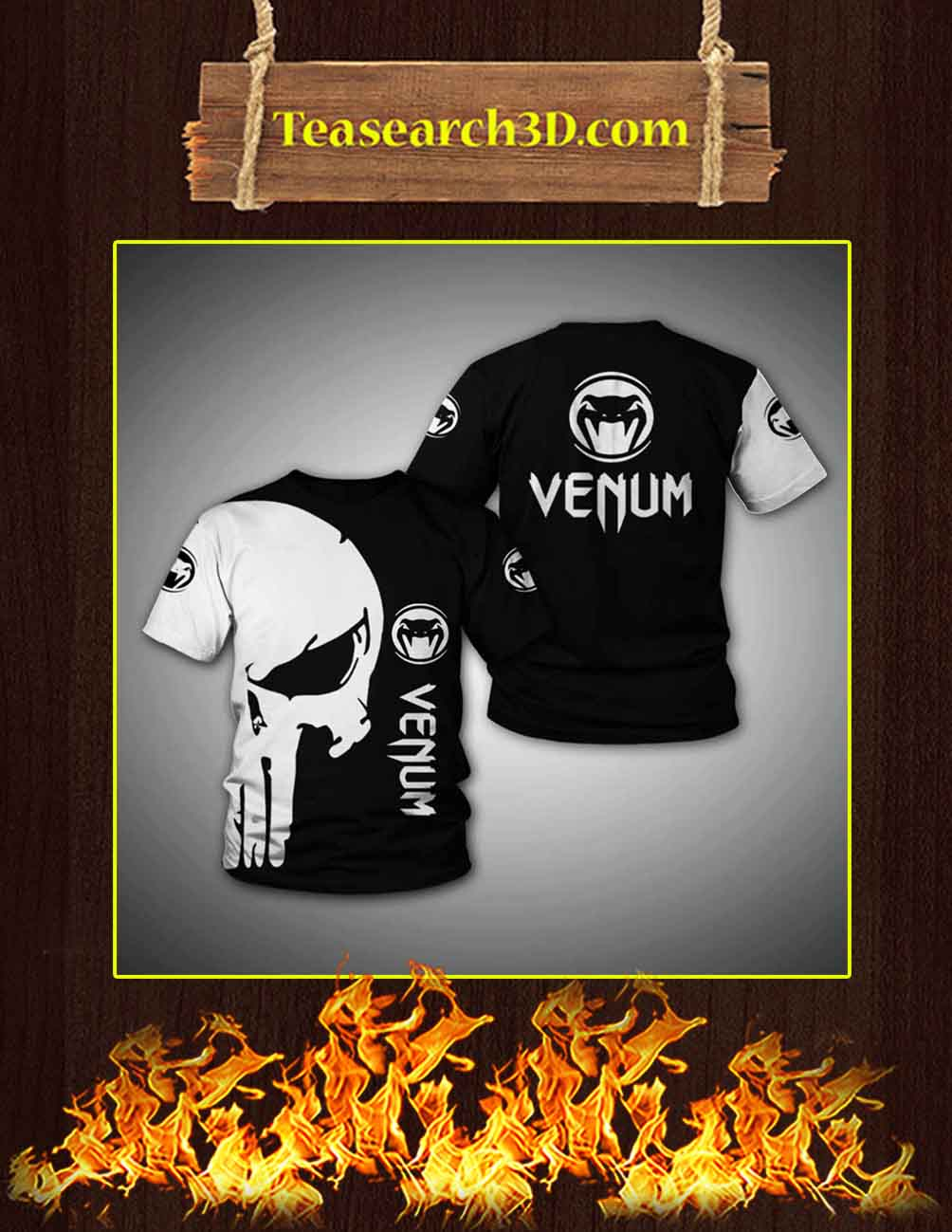 Venum Punisher Skull 3d shirt