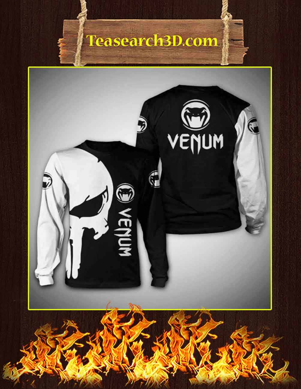 Venum Punisher Skull 3d sweatshirt