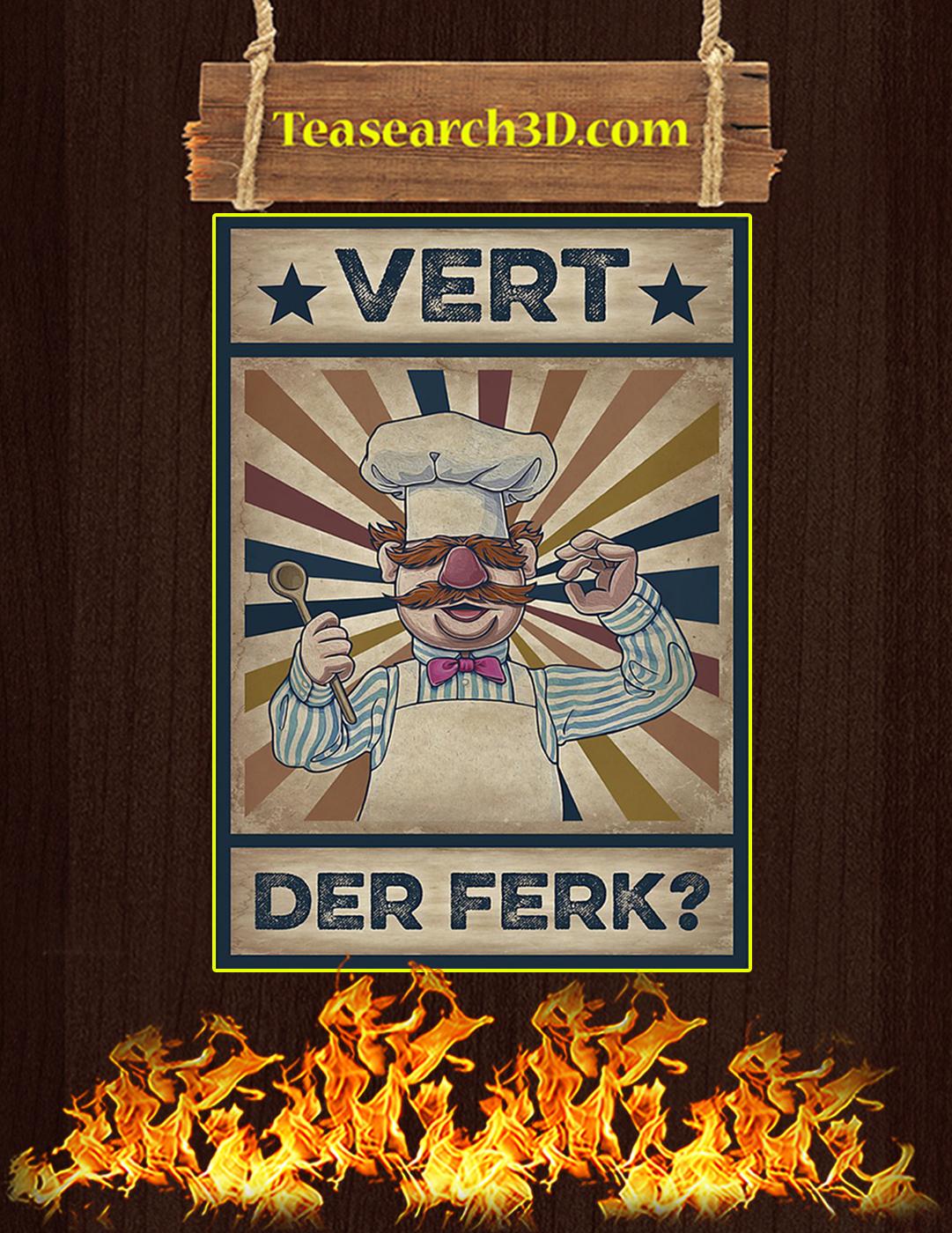 Vert Der Ferk Poster A2