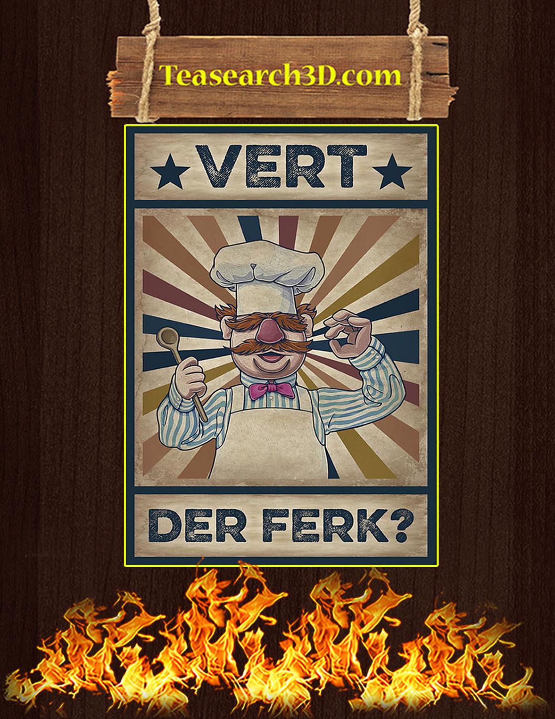 Vert Der Ferk Poster A3