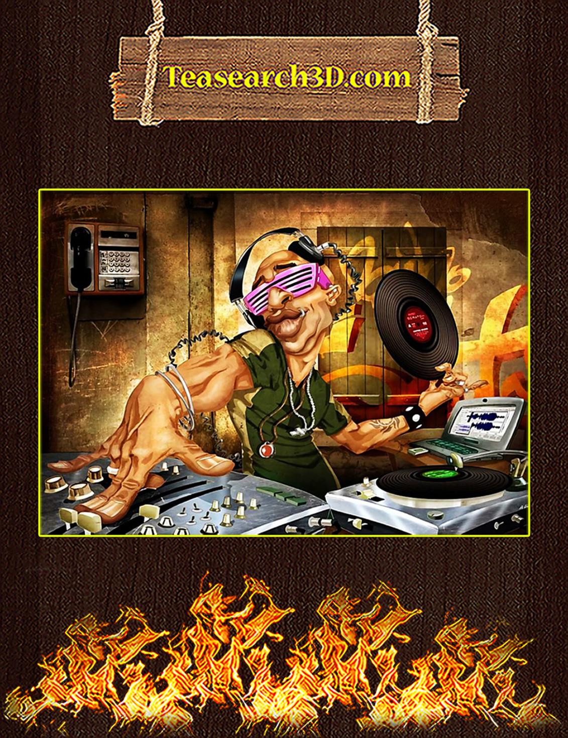Vintage DJ Frank Poster A3