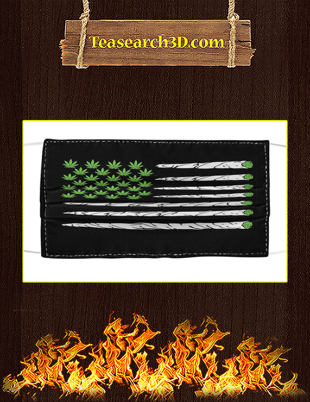 Weed American Flag Cloth Face Mask