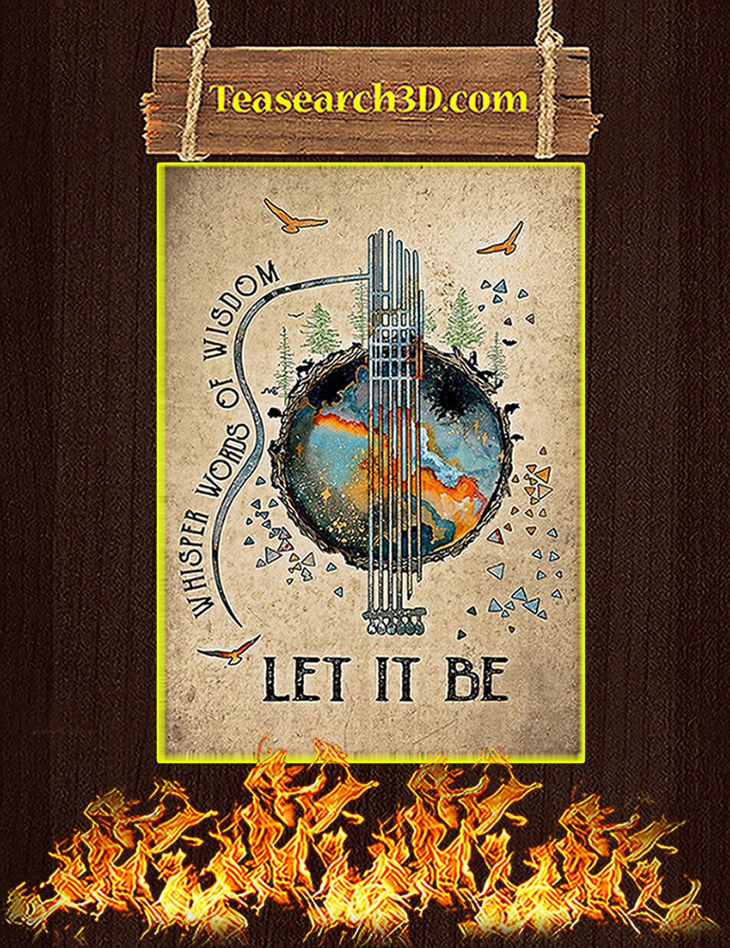 Whisper words of wisdom let it be earth poster A1