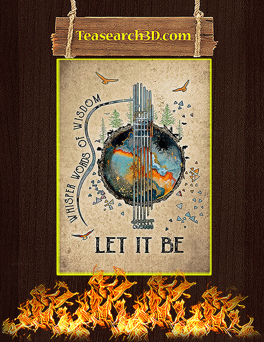 Whisper words of wisdom let it be earth poster A2