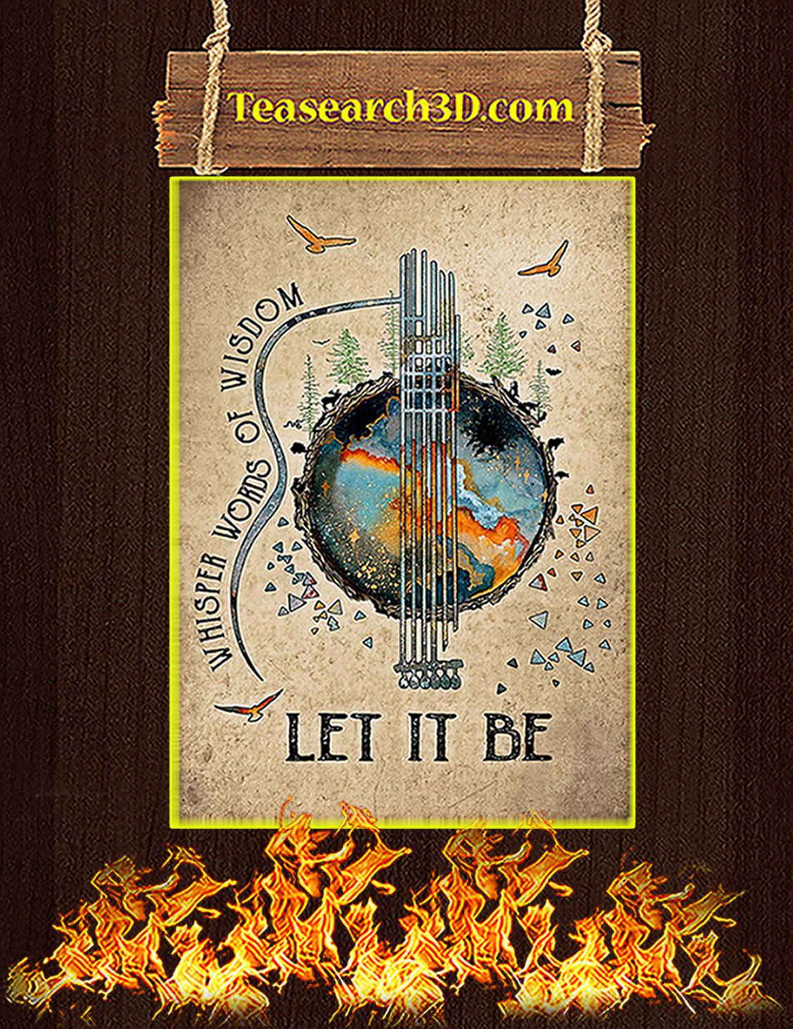 Whisper words of wisdom let it be earth poster A3
