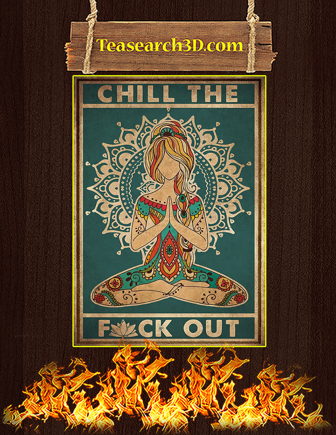 Yoga Chill the fuck out poster A2
