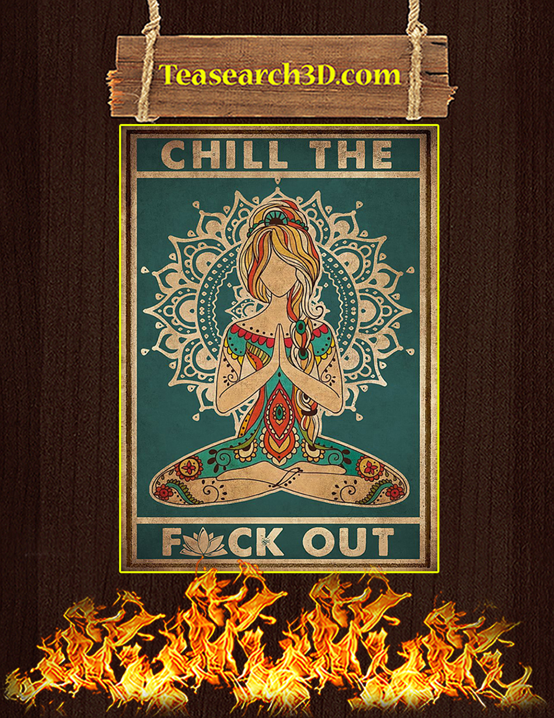 Yoga Chill the fuck out poster A3