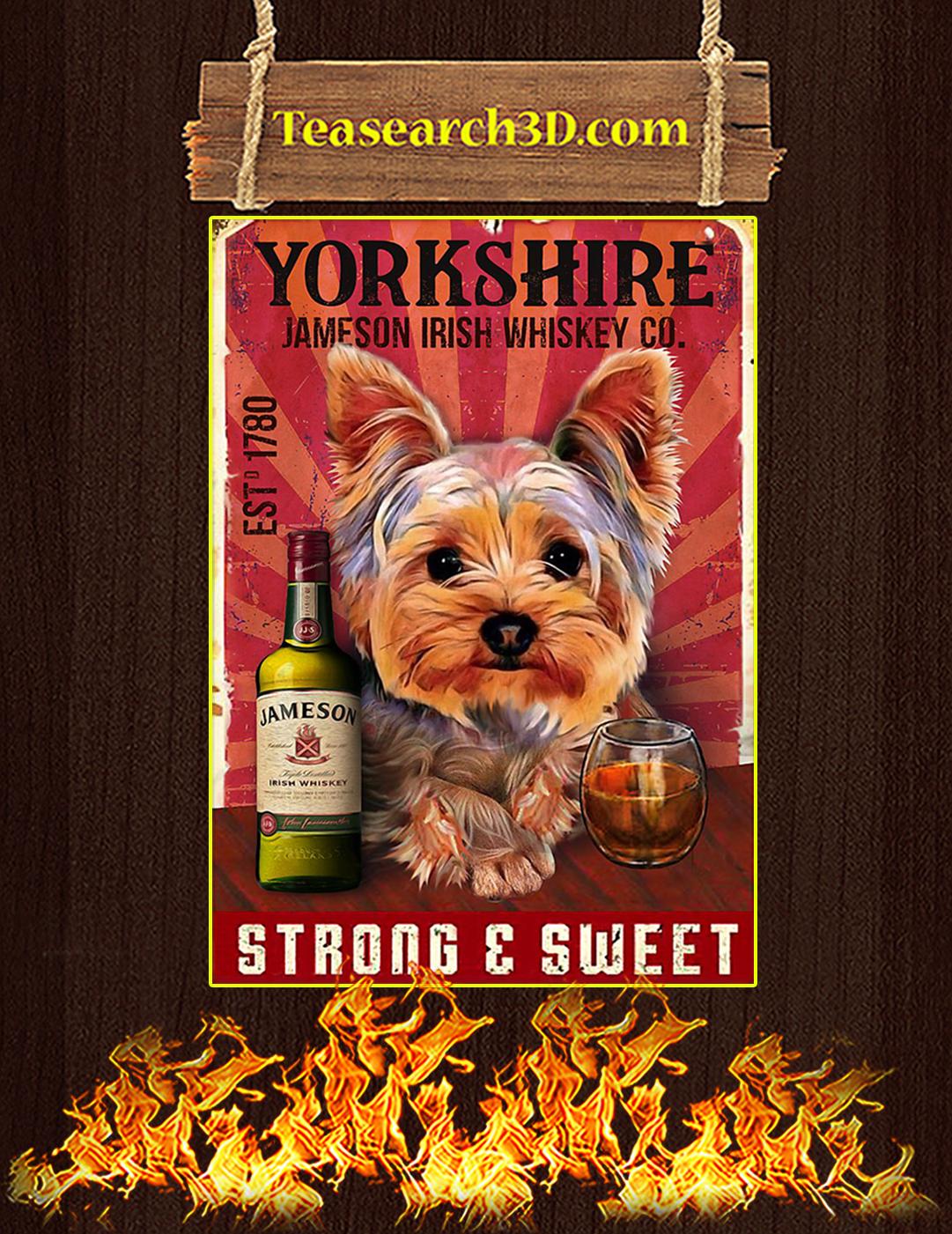 Yorkshire jameson irish whiskey co poster A2