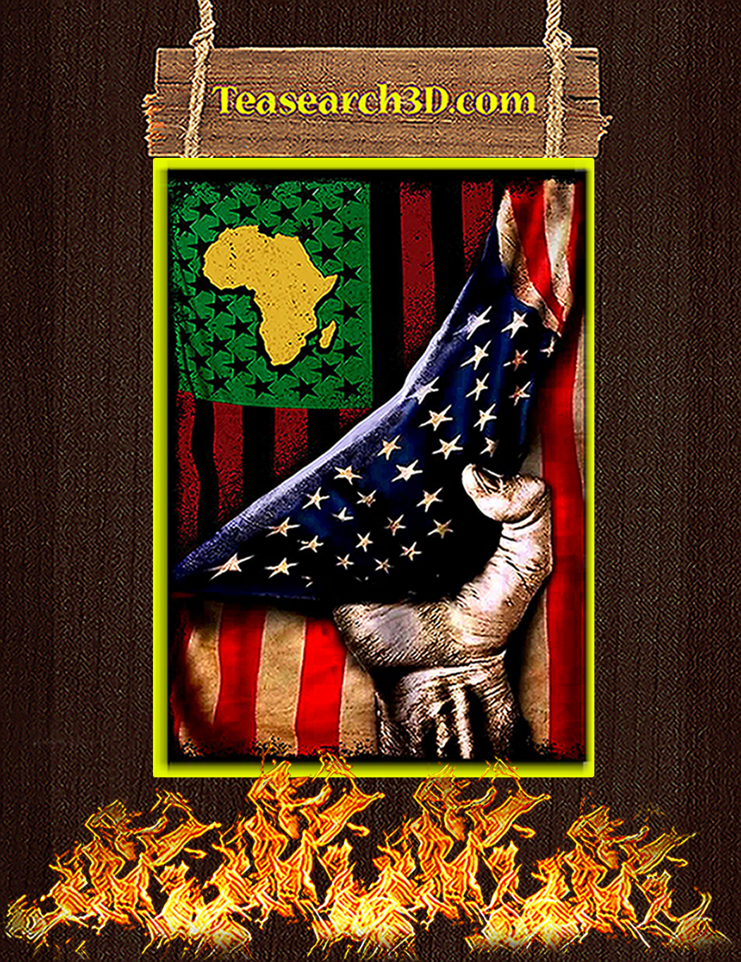 African in america flag poster A1