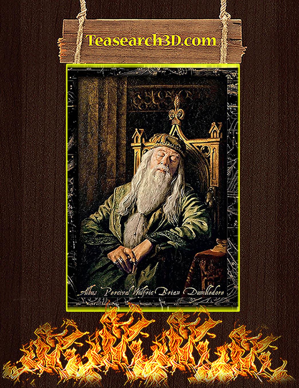 Albus percival wulfric brian dumbledore sleeping poster A1