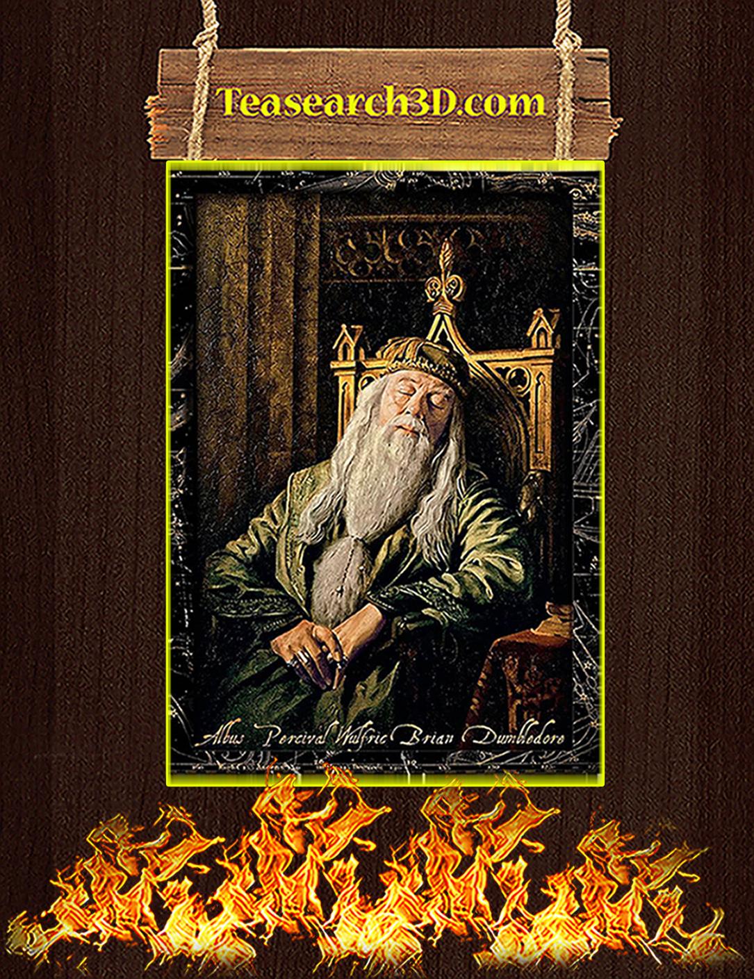 Albus percival wulfric brian dumbledore sleeping poster A2