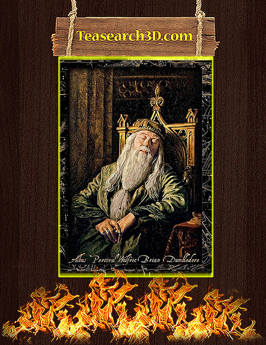 Albus percival wulfric brian dumbledore sleeping poster A3