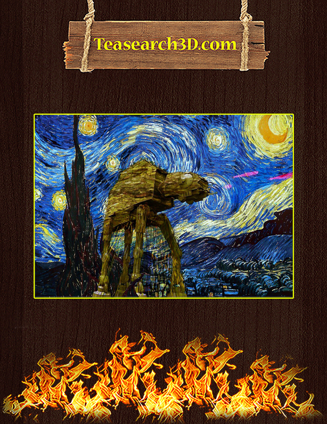 All Terrain Armored Transport starry night van gogh poster A3