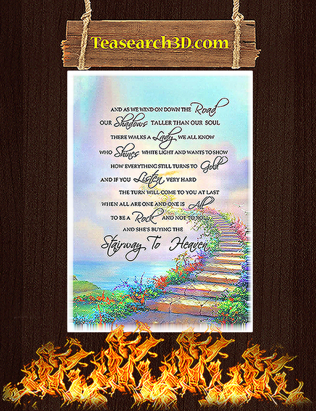 And as we wind on down the road stairway to heaven poster A2