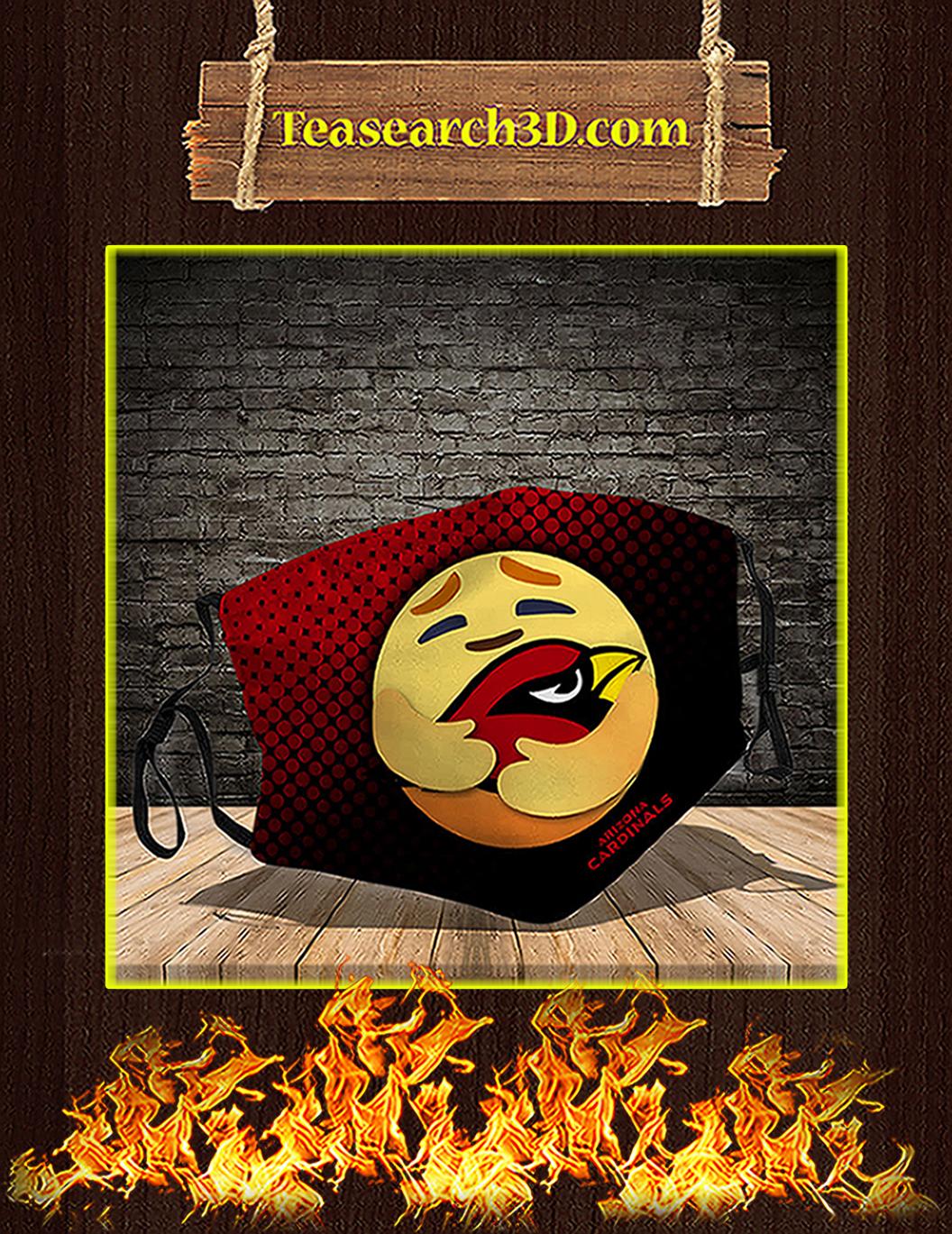 Arizona Cardinals care emoji face mask pack 3