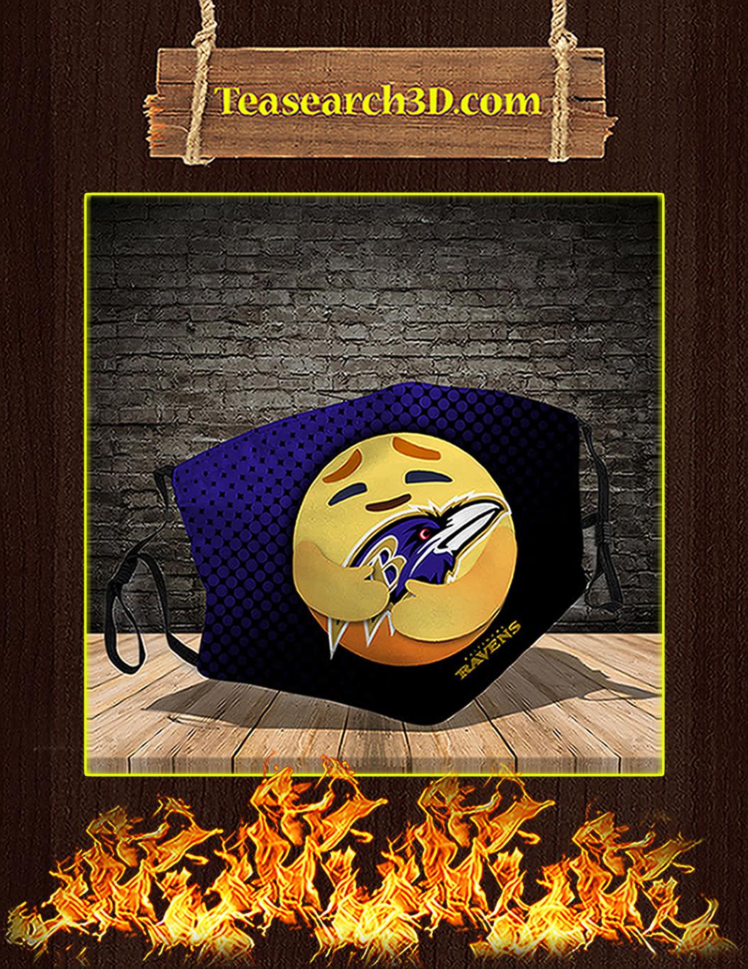 Baltimore Ravens care emoji face mask pack 5