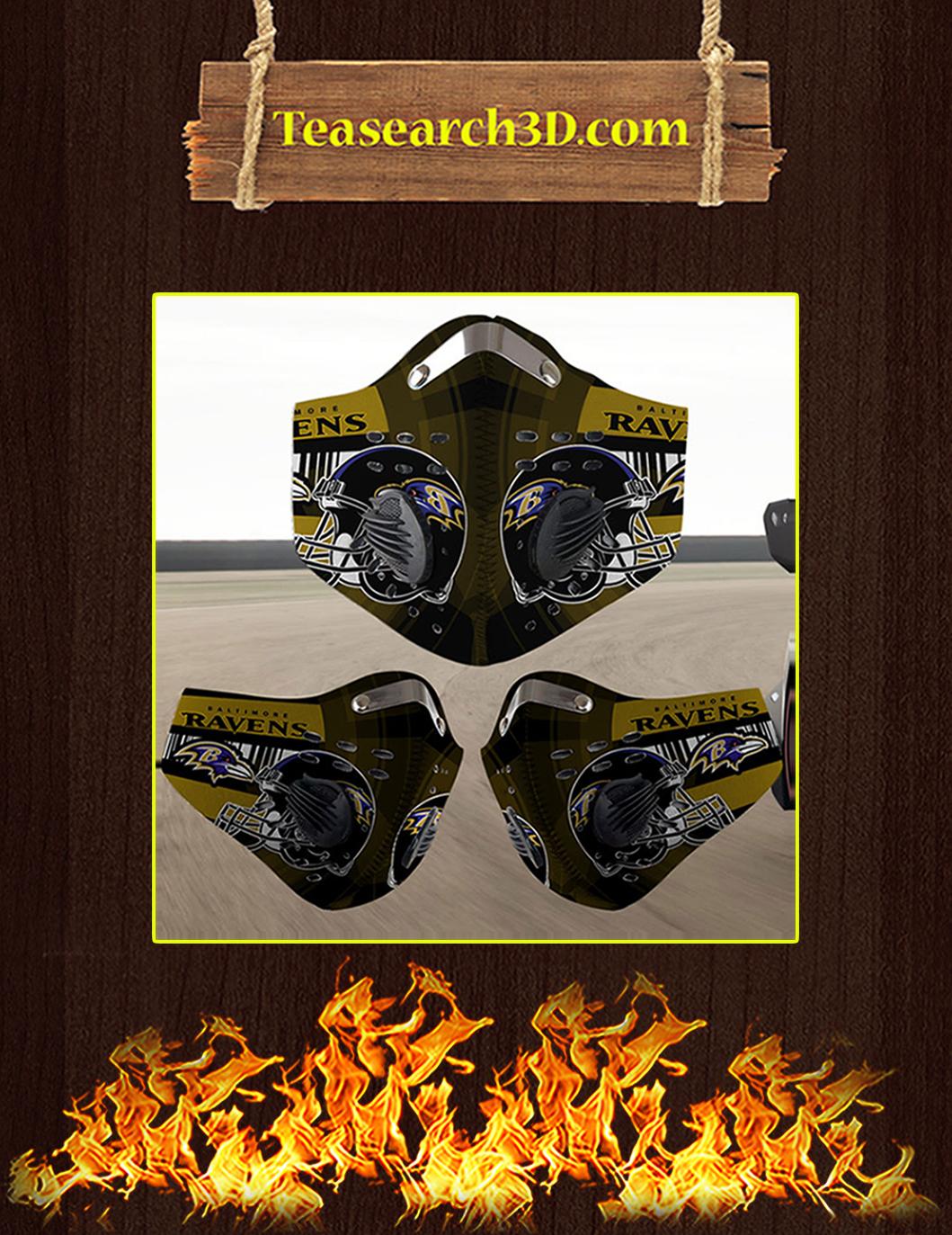 Baltimore Ravens filter face mask pack 3