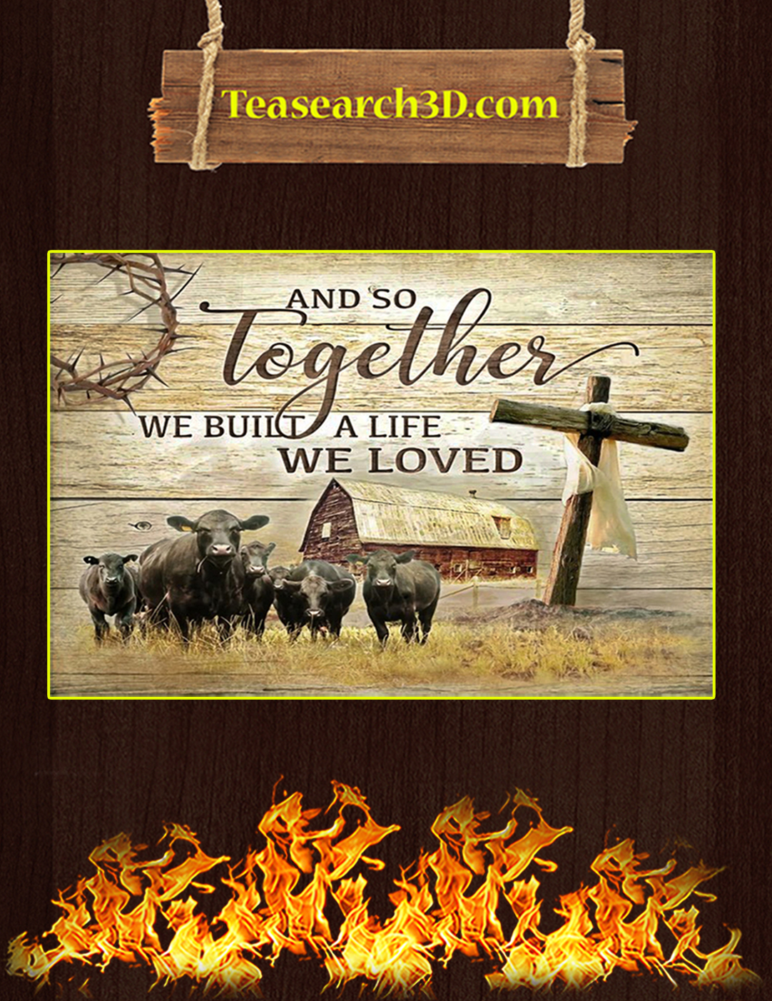 Black Angus And so together we built a life canvas prints medium
