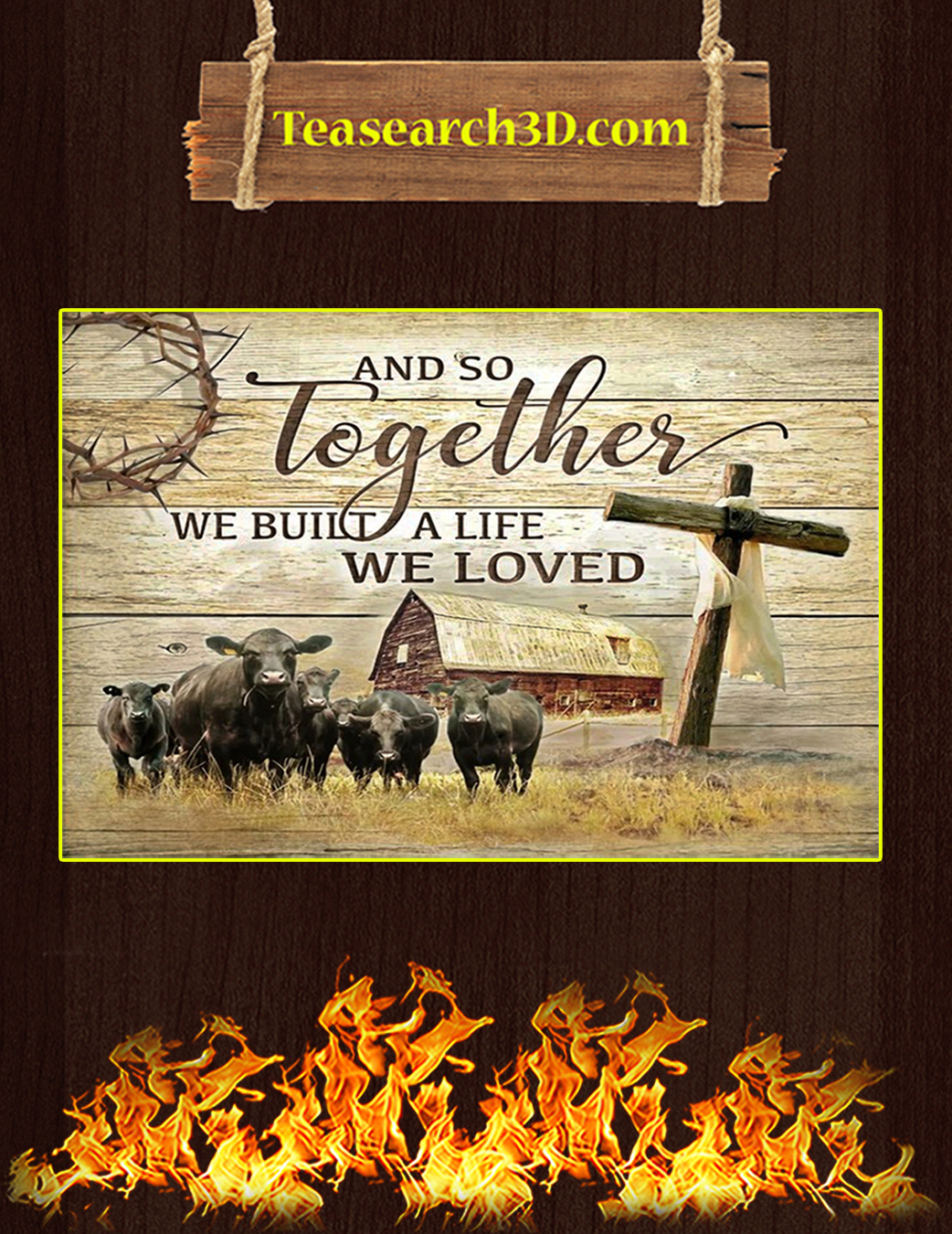 Black Angus And so together we built a life canvas prints small