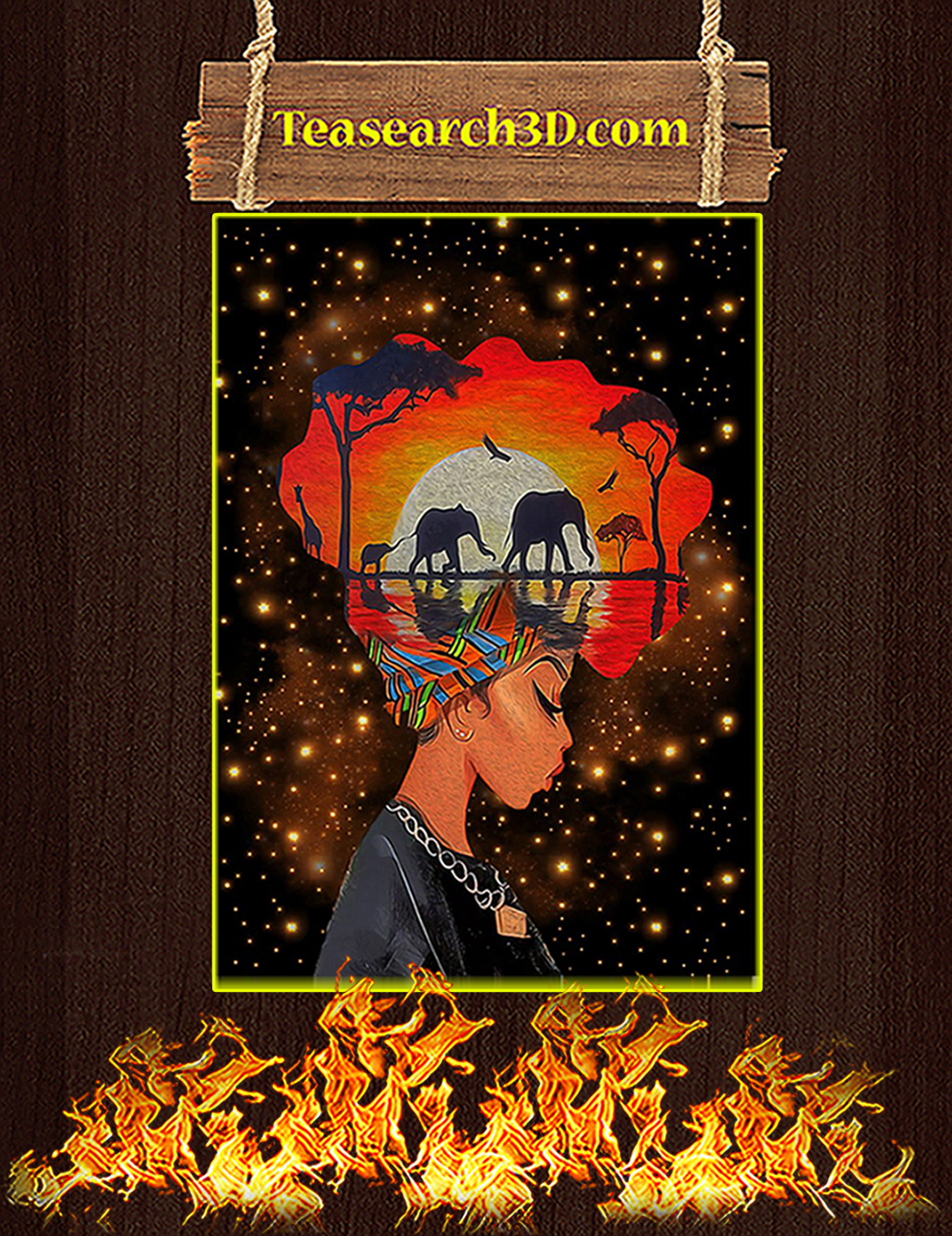 Black queen nature poster A1