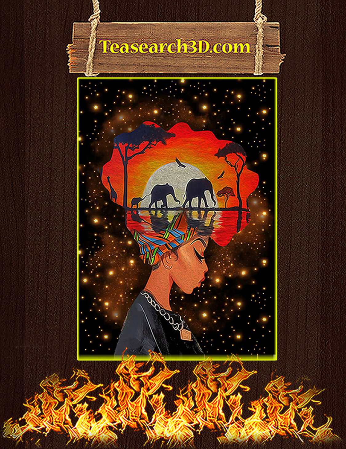 Black queen nature poster A3