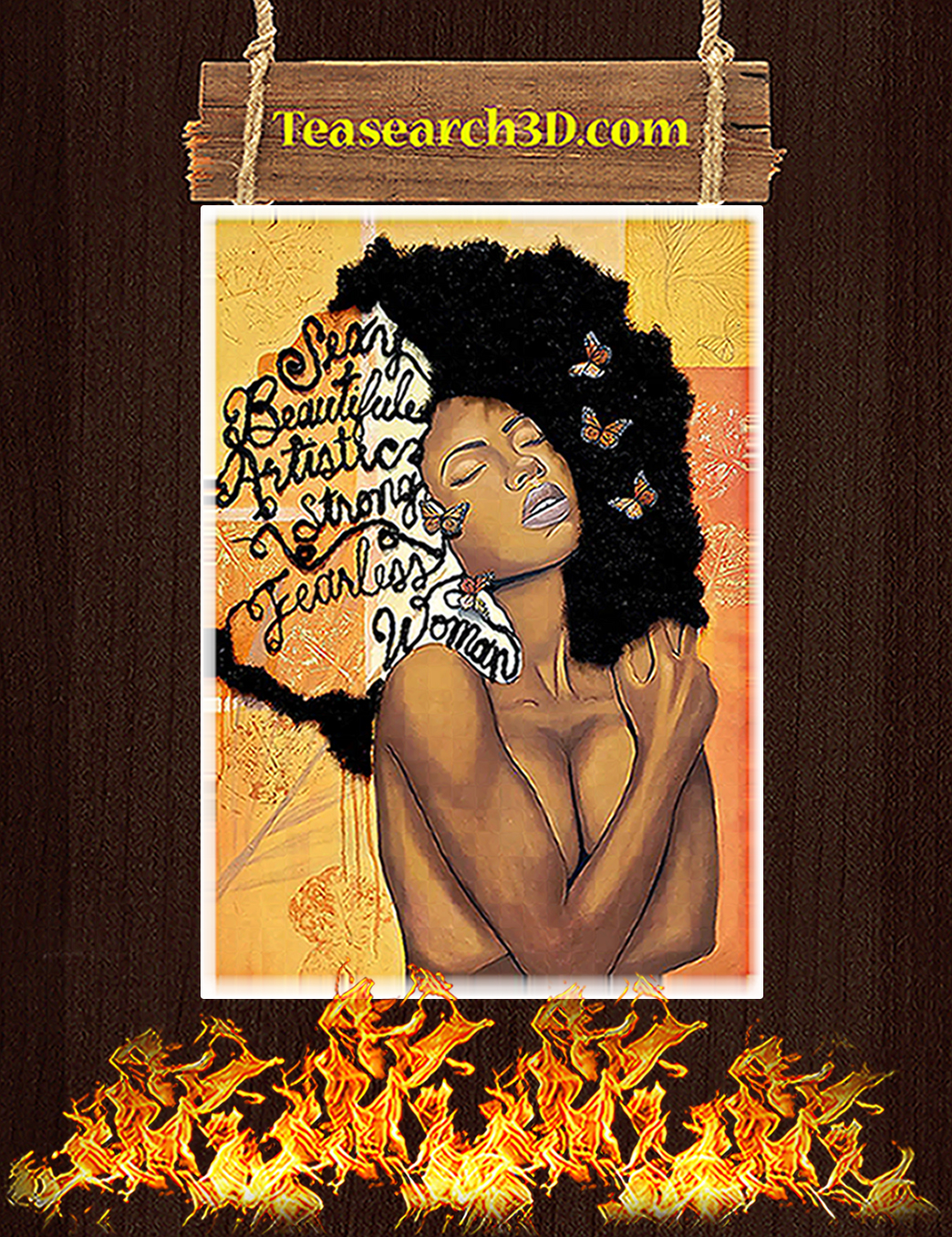 Black women sexy beautiful artistic strong fearless poster A1