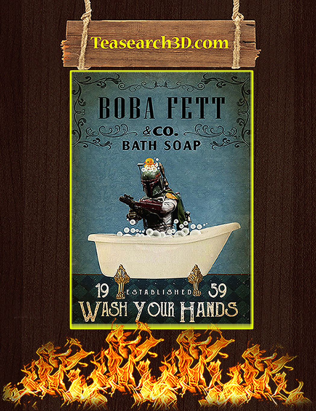 Boba bett co bath soap wash your hands poster A1