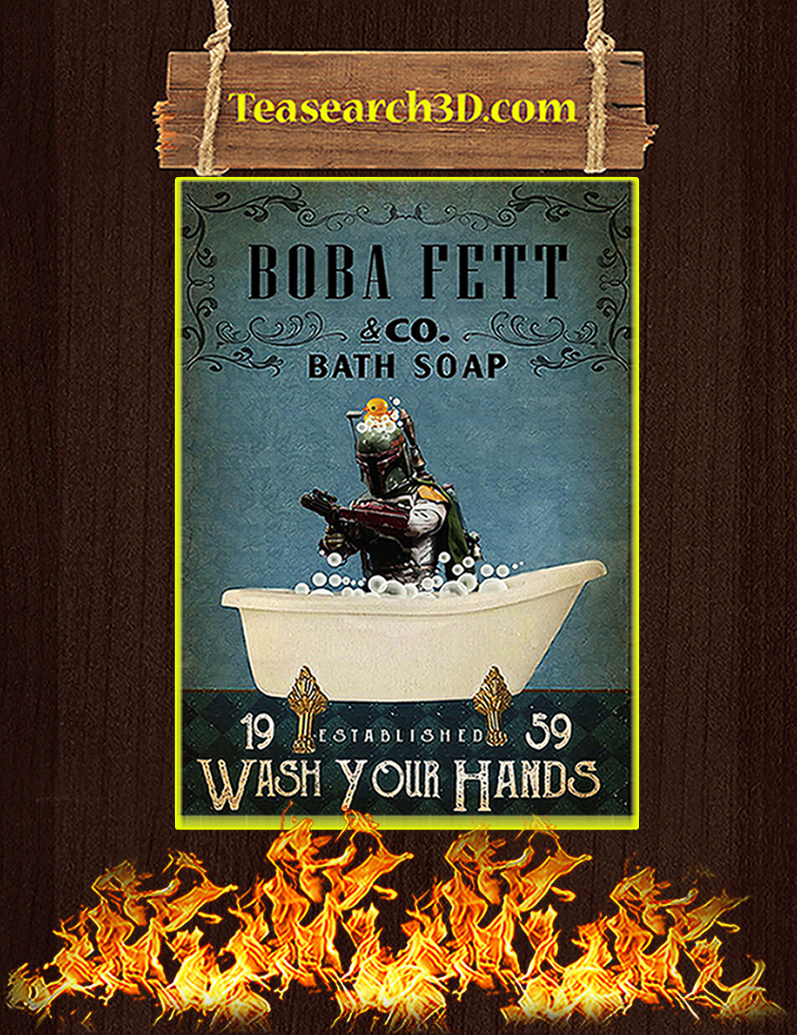 Boba bett co bath soap wash your hands poster A3
