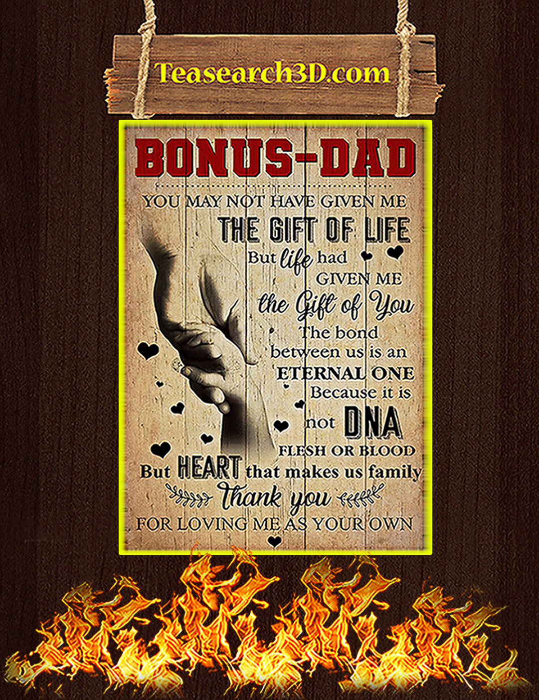 Bonus dad you may not have given me poster A2