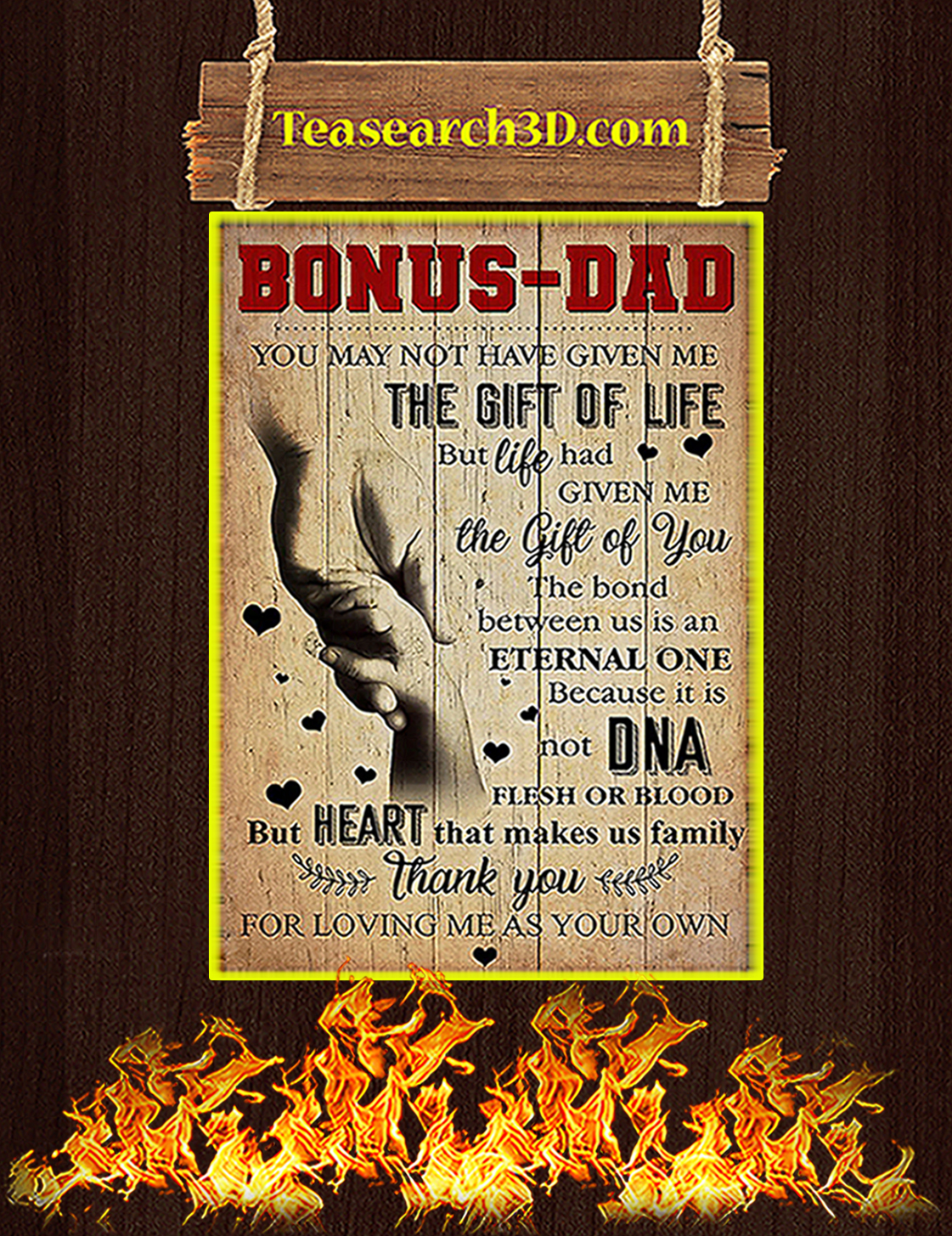 Bonus dad you may not have given me poster A3