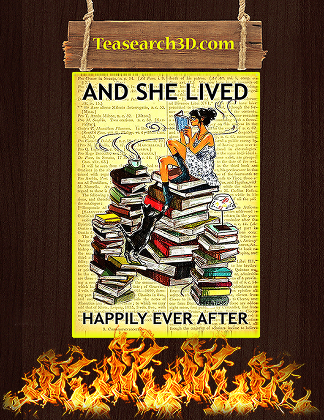 Book And she lived happily ever after poster A1