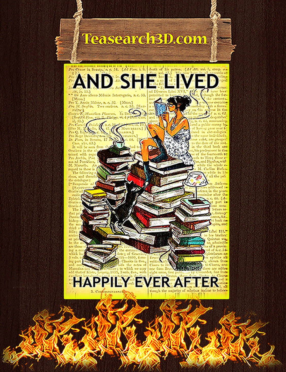Book And she lived happily ever after poster A3