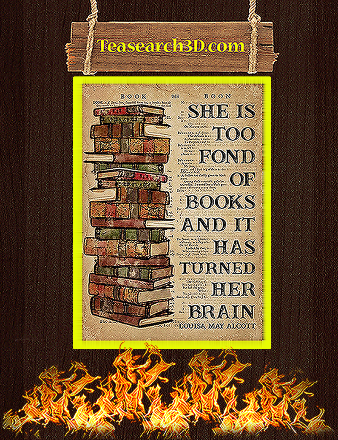 Book she is too fond of books poster A3
