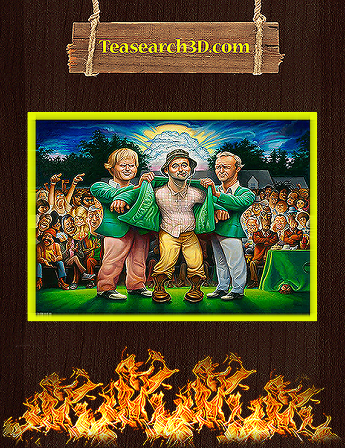 Caddyshack the green jacket poster A3