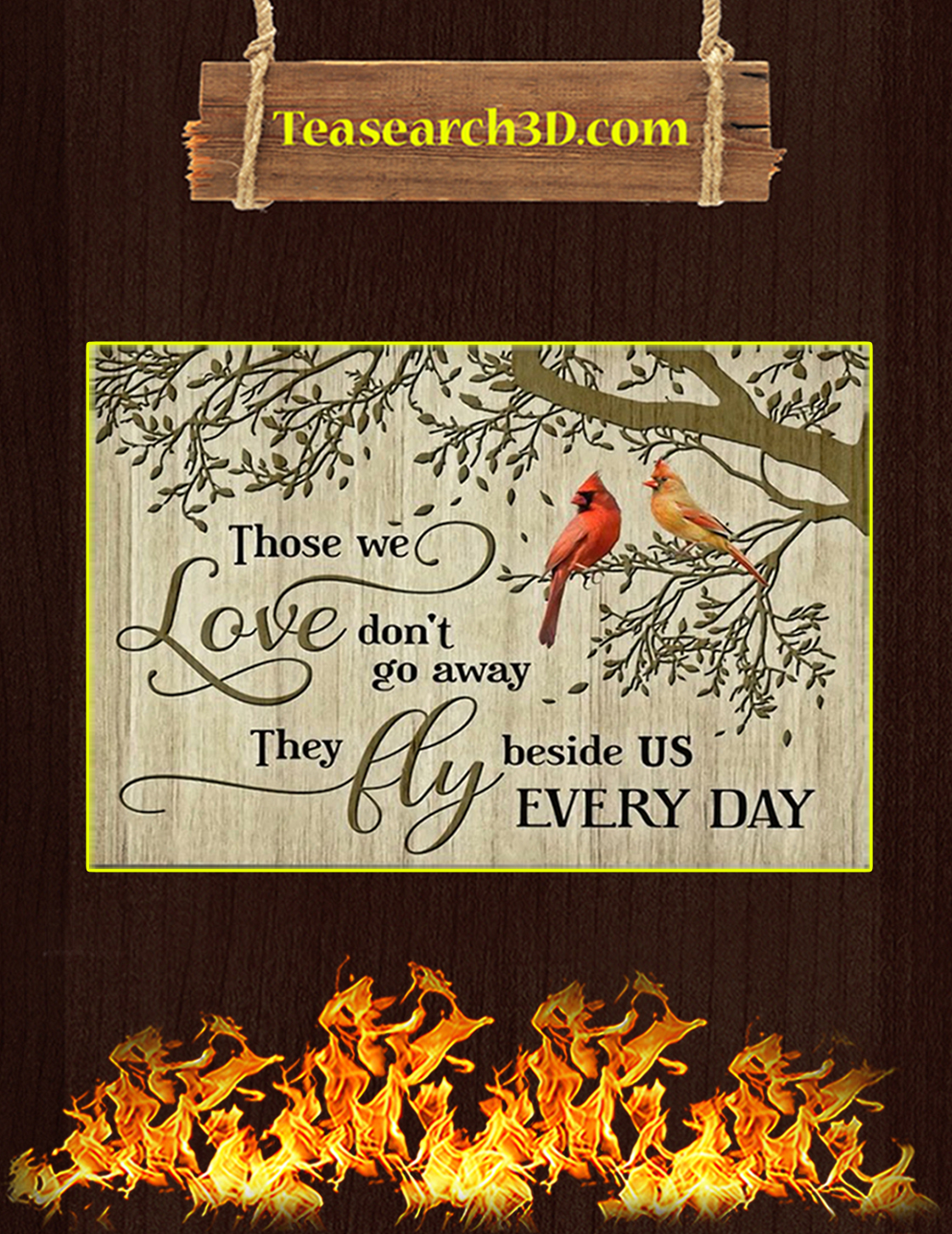 Cardinal Those we love don't go away canvas prints large