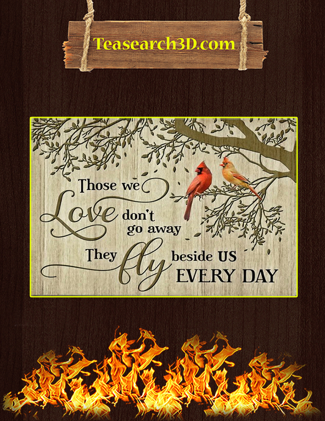 Cardinal Those we love don't go away canvas prints small